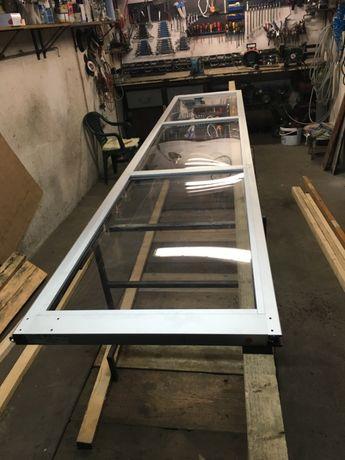 Panel do bramy segmentowej, przemysłowej przeszklony aluminiowy