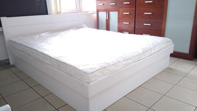Łóżko 160x200 drewniane z pojemnikiem na pościel