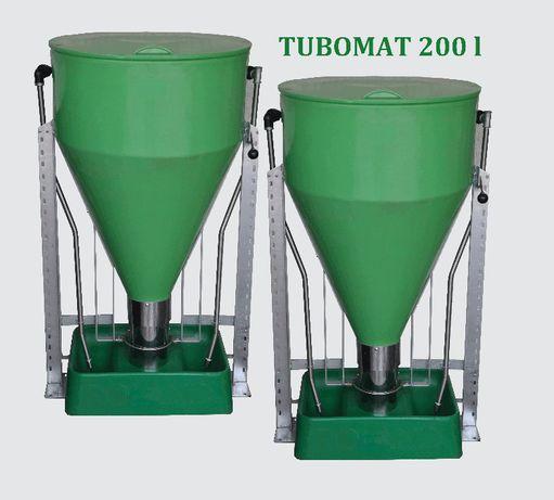 Tubomat 200 l dla tuczników/warchlaków z kwadratowym korytem-NA MOKRO