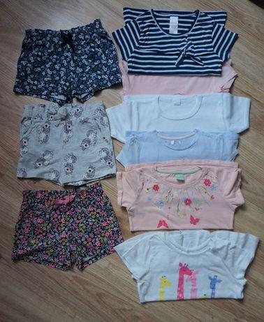 Paczka ubrań na lato dziewczynka H&M r. 104