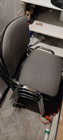 Krzesła TAASTRUP, szare z metalowymi nogami