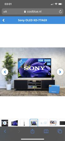 Super okazja - Telewizor SONY KD77AG9 OLED