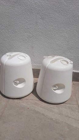 Pack de 4 suportes brancos pérgola jardim