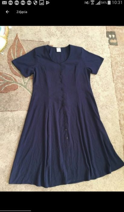 Sukienka z pionowymi guzikami duźy rozmiar 50 Mielec - image 1