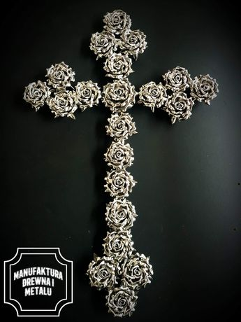 Krzyż ze stali nierdzewnej pomniki nagrobki dewocjonalia