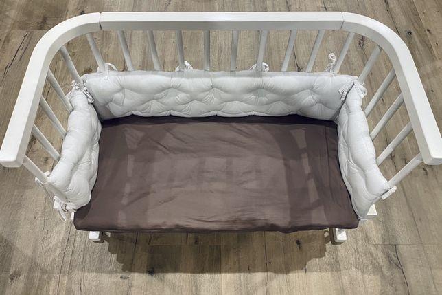 Детская приставная кроватка деревянная