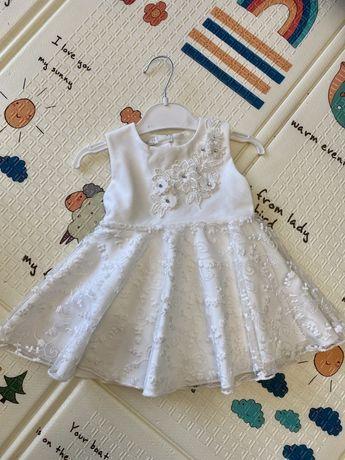 Нарядное платье -боди , 3-6 месяцев . Платье на крещение