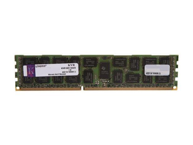 Серверная ОЗУ 8Gb Kingston RAM DDR3-1600 ECC Registered KVR16R11D4/8