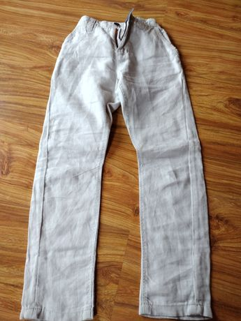 Lniane spodnie NEXT dla chłopaka 6 lat