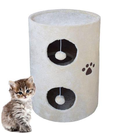 17025 Drapak dla kota beżowy TUBA 58cm wieża legowisko