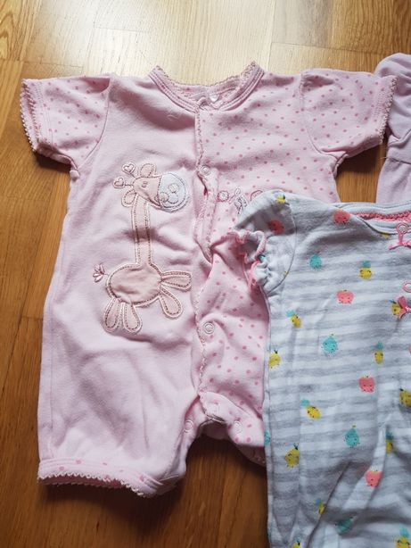 Rampersy niemowlęce 68 3-6 m 3 sztuki