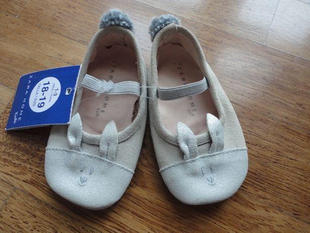 Nowe buciki Zara buty skórzane nr 18-19 baleriny