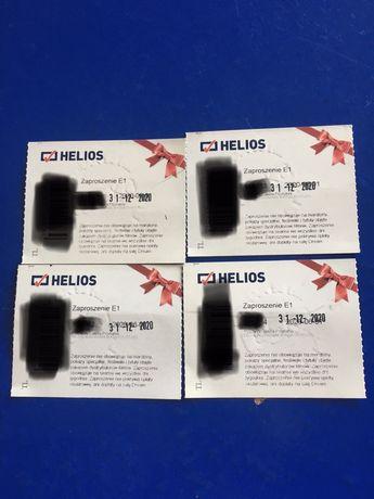 Kino Helios bilety 4szt. Poznan Galeria Posnania +bon do restauracji