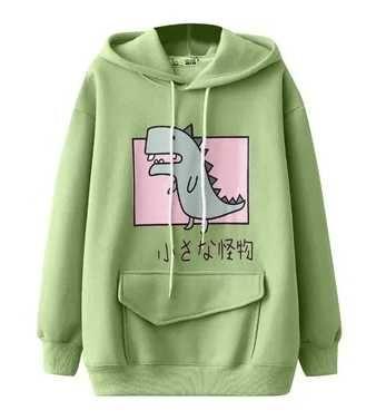 Anime nowa bluza kawaii r M smok dinozaur
