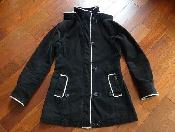 Płaszcz sztruksowy czarny 36