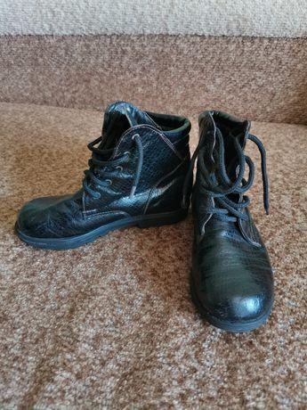 Детские чёрные кожаные ботинки