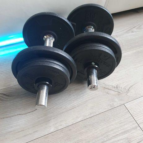 Hantle Hantelki Ciężarki Regulowane 10 kg  żeliwne obciążenia