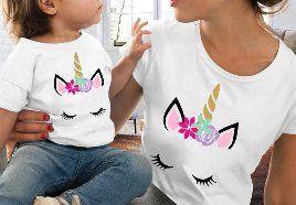 Zestaw koszulek mama i córka t-shirt bluzka jednorożec unicorn