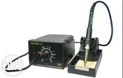 Estacão de soldar 200-480 ° C + 5 pontas de soldador diferentes