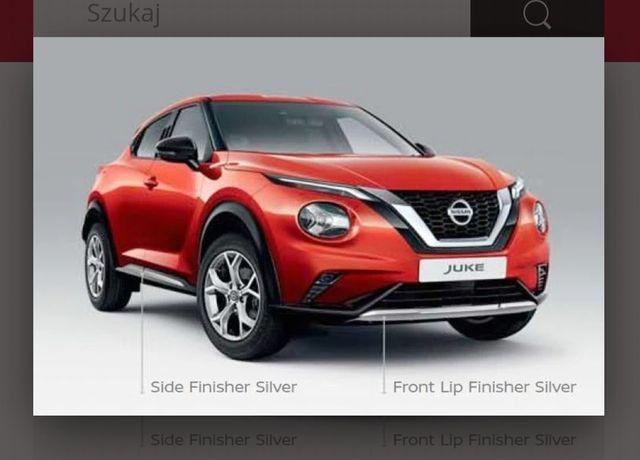 Nissan Juke II pakiet stylistyczny listwy szare drzwi,zderzak przód