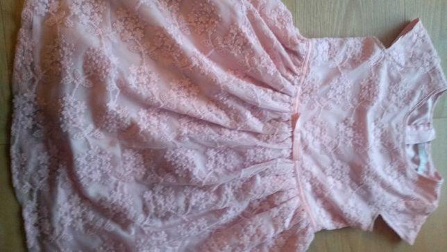Sukienka koronkowa różowa