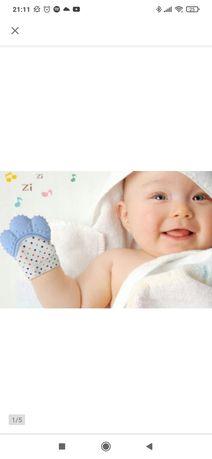 Gryzak rękawiczka spokój niemowlaka na ząbkowanie