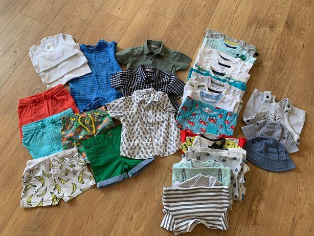 F&F, H&M, Disney, Primark... - Zestaw ubrań na lato dla chłopca 74/80