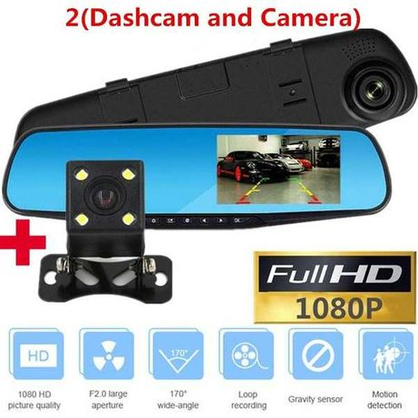 Kamera DVR  4,3 cal Podwójny obiektyw Full HD 1080P