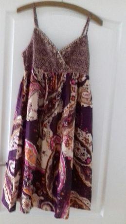 LaRedoute sukienka kolorowa na cienkich ramiączkach cekinami