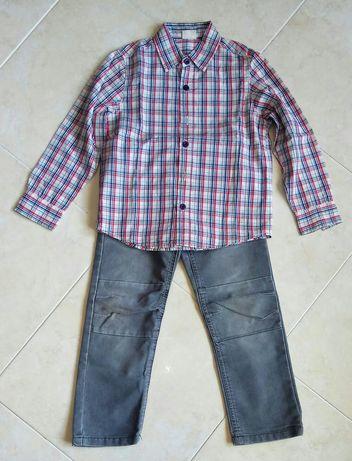 Camisa Prénatal COMO NOVA. + Calças 4 Anos
