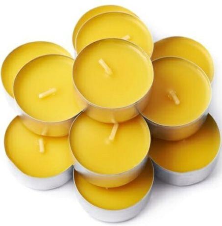 Tealight podgrzewacz z wosku wosk pszczeli pszczelego 100% naturalny