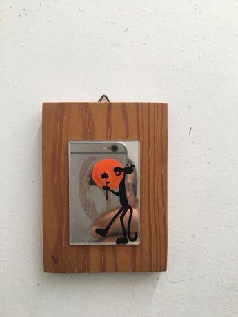 Mini quadro Pantera Cor de Rosa