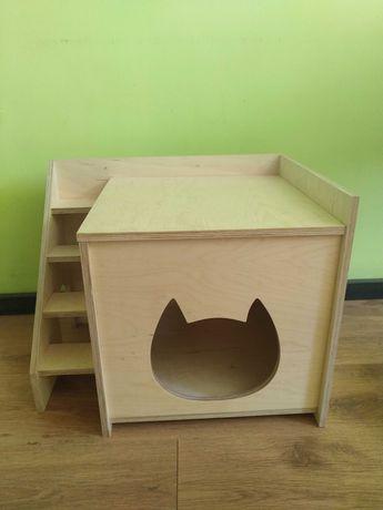 Домик для кошки из фанеры