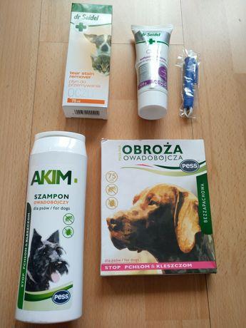 Dr siedel Krople pasta szampon obroża dla psa