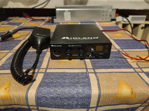 CB radio Midland Alan 100 plus z mikrofonem