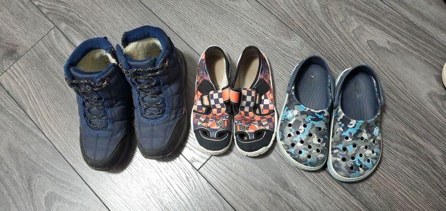 Обувь на мальчика (ботинки, сапоги резиновые, тапки, crocs) 30-31 р.