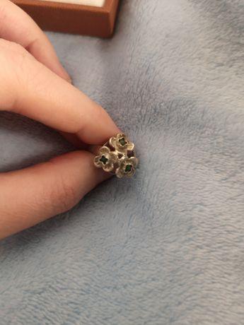 Warmet srebrny pierścionek, turkus,niezapominajka, PRL, vintage, retro