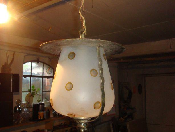 Lampa stara do ganku, na taras itp. mleczne szkło