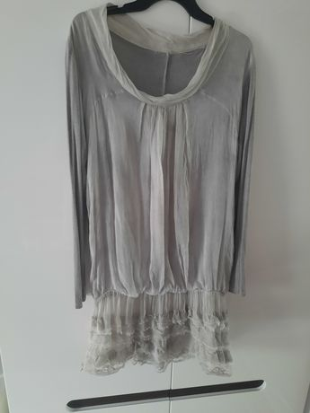 Szara sukienka lub tunika 42