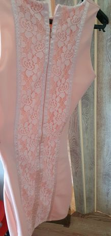 Dopasowana sukienka S 36 koronka