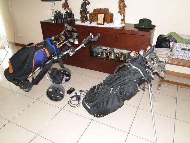 kije golfowe i 2 wózki