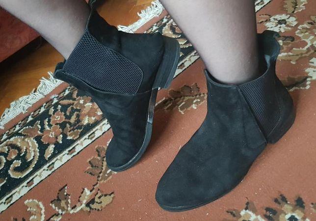 Стильные челси ботинки чобітки замш натуральная демисезон 38