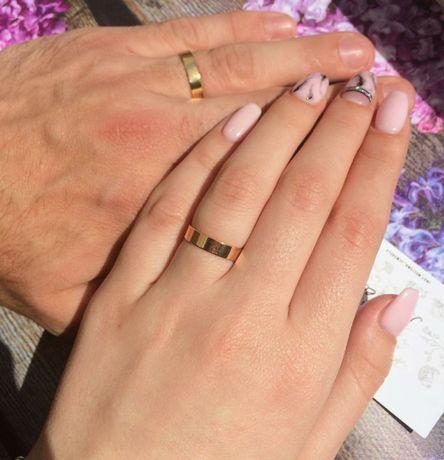 Обручальное кольцо медзолото