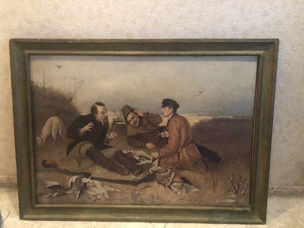 Картина Три охотника. 1955 г