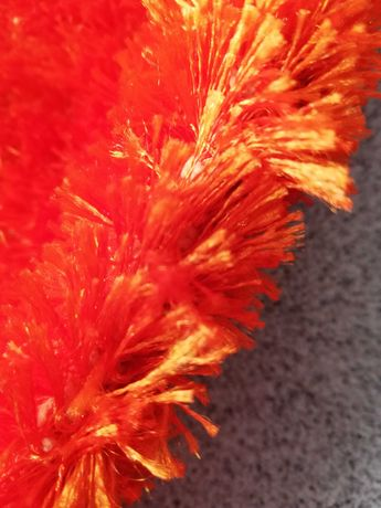 Tapete laranja pêlo médio