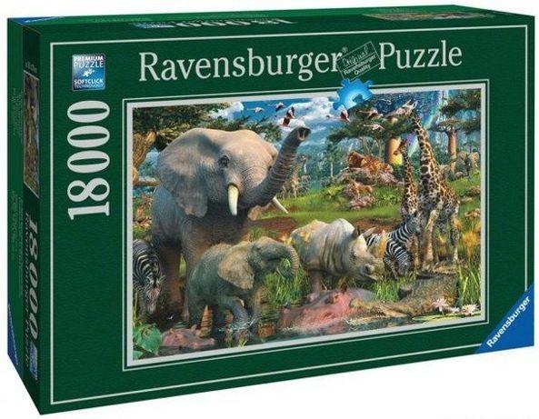 "Puzzle 18000 Ravensburger ""Przy wodopoju"""