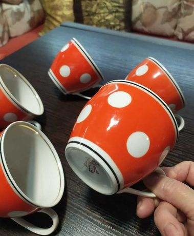 Сервиз Полонский 70г времен СССР Чашка тонкий фарфор посуда винтаж