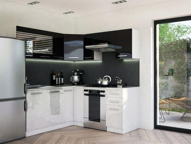 Tani narożny zestaw meble kuchenne kuchnia wysoki połysk