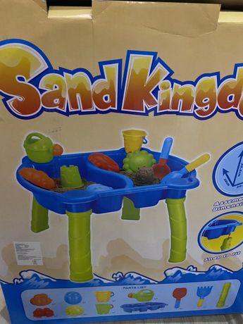 Детская песочница +1.5кг кенетического песка.