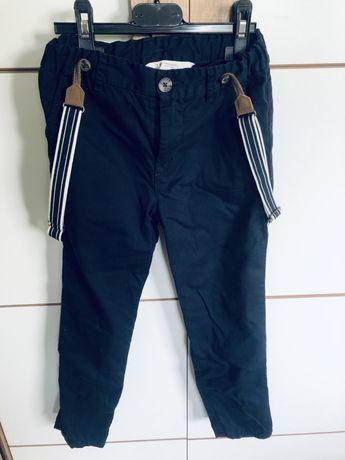 Spodnie eleganckie szelki H&M roz 122 szkola zakonczenie